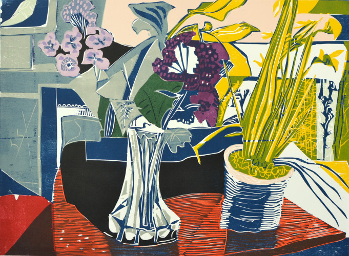 2002 Still Life with Flowers 56x77cm.